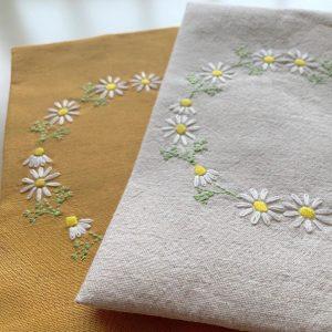 カモミール刺繍