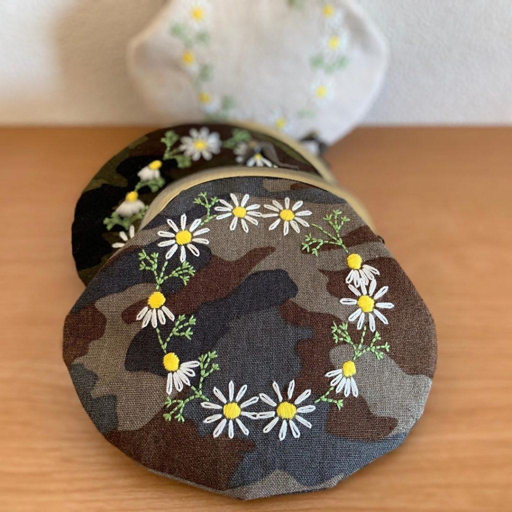 迷彩✖️花刺繍
