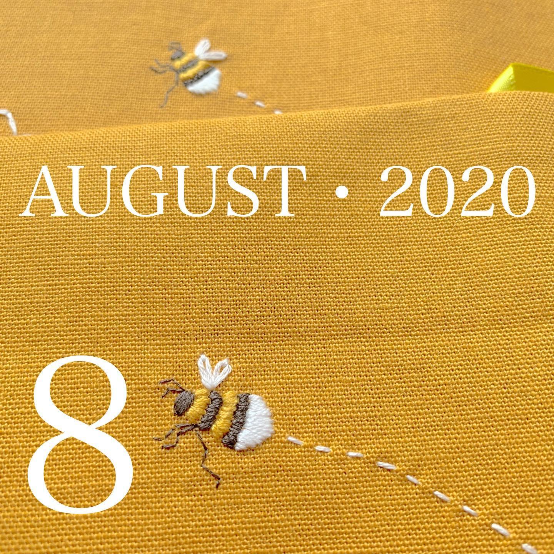 #AUGUST・2020#2020年8月#令和2年8月#ミツバチ#蜜蜂#蜂##ハチ#honeybee#刺繍#embroidery #手刺繍#handembroidery#手仕事#手作り#handmade #needleworks #stitch#tomoprix