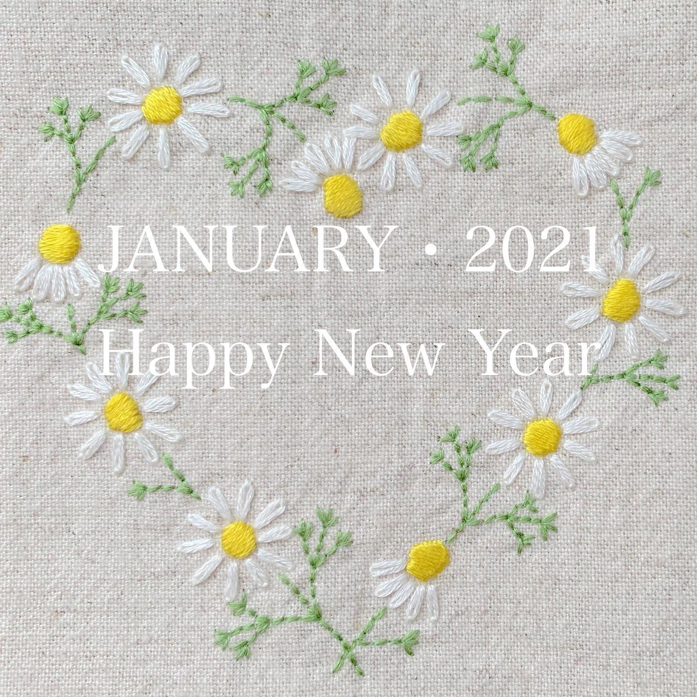 #happynewyear本年も宜しくお願い致します。#2021#JANUARY#令和3年#一月#平和な1年になりますように#花のあるくらし#ハートのカモミール刺繍#カモミール刺繍#カモミール刺繍のブックカバー#文庫本サイズ#ブックカバー #花刺繍 #刺繍 #embroidery #手刺繍#handembroidery #handmade #手仕事#手作り#針仕事#needlework#カミツレ#カモマイル#カモミール#chamomile#tomoprix